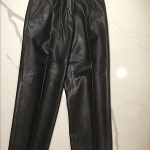 Vakko Leather Pants